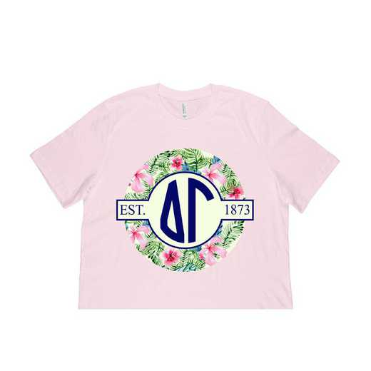 Delta Gamma Tropical Hibiscus Circle Seal T-Shirt
