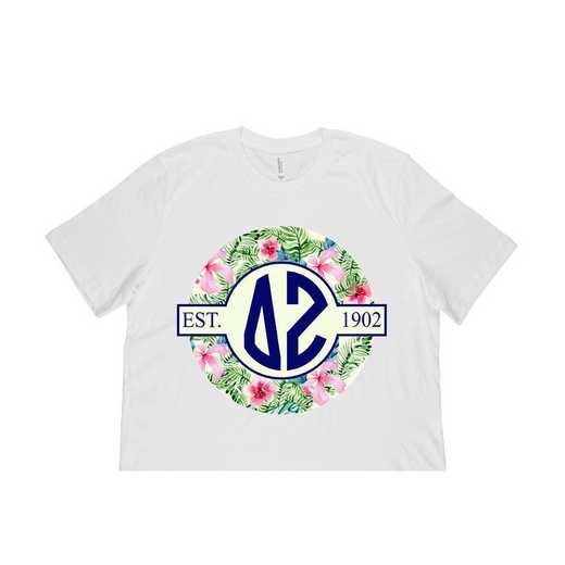 Delta Zeta Tropical Hibiscus Circle Seal T-Shirt