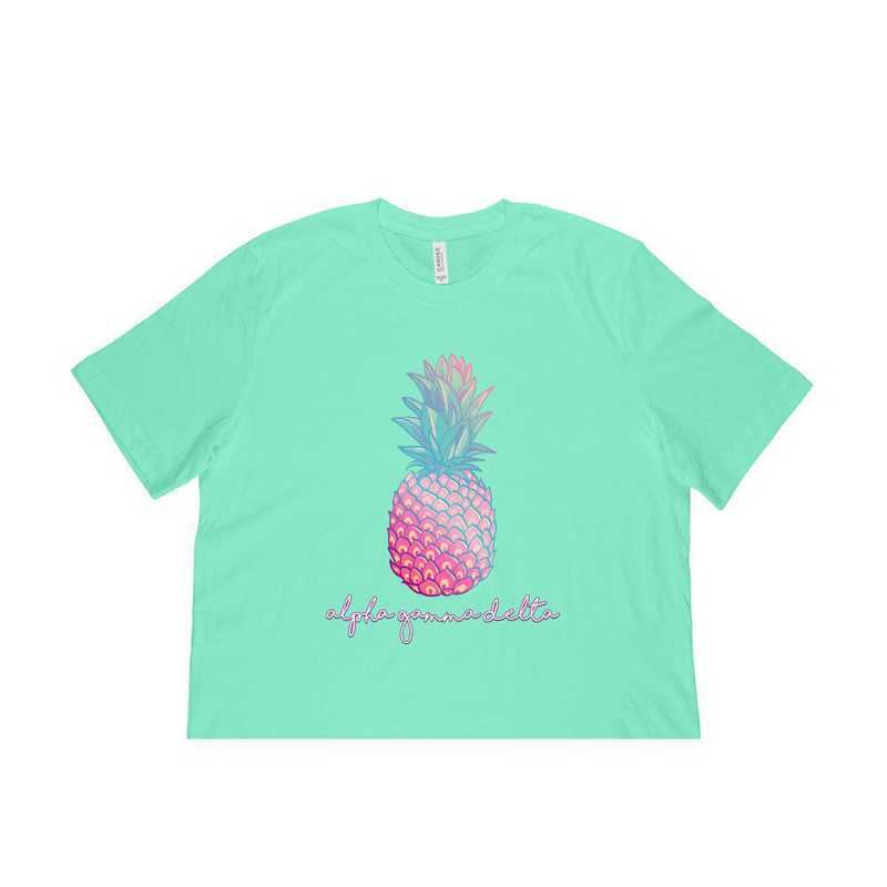 Alpha Gamma Delta Tropical Pineapple T-Shirt Green