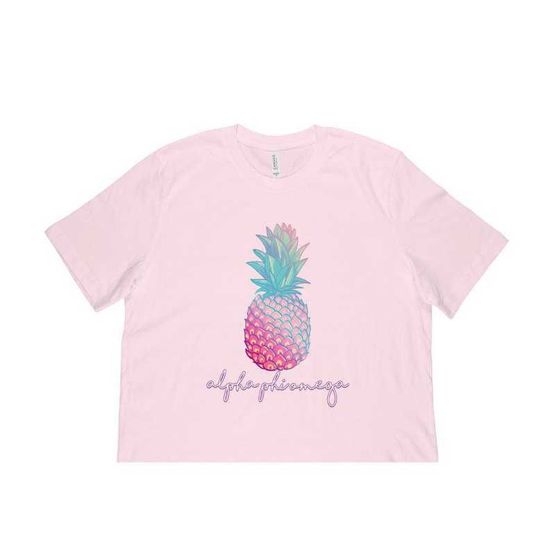 Alpha Phi Omega Tropical Pineapple T-Shirt Pink