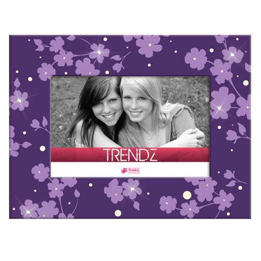 41640: TF Purple Floral Glass 6x4Purple