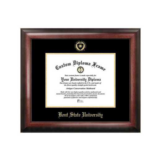 OH989GED-1185: Kent State University 11w x 8.5h Gold Embossed Diploma Frame