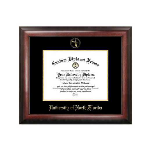 FL993GED-1411: University of North Florida 14w x 11h Gold Embossed Diploma Frame