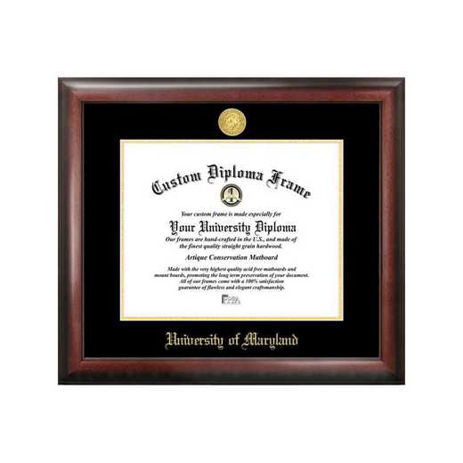MD998GED-1714: University of Maryland 17w x 14h Gold Embossed Diploma Frame