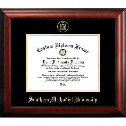 TX944GED-1411: Southern Methodist University 14w x 11h Gold Embossed Diploma Frame