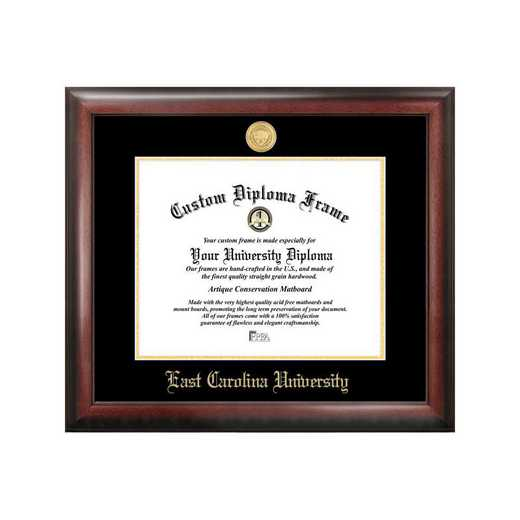 NC995GED-1411: East Carolina University 14w x 11h Gold Embossed Diploma Frame