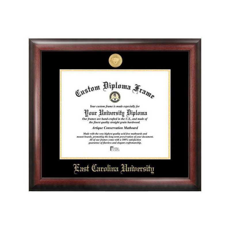NC995GED-1411: East Carolina University 14w x 11h Gold Embossed Diploma Frame