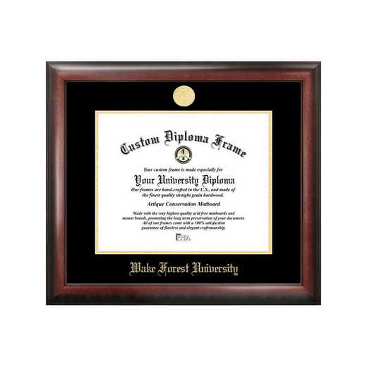 NC991GED-1411: Wake Forest University 14w x 11h Gold Embossed Diploma Frame