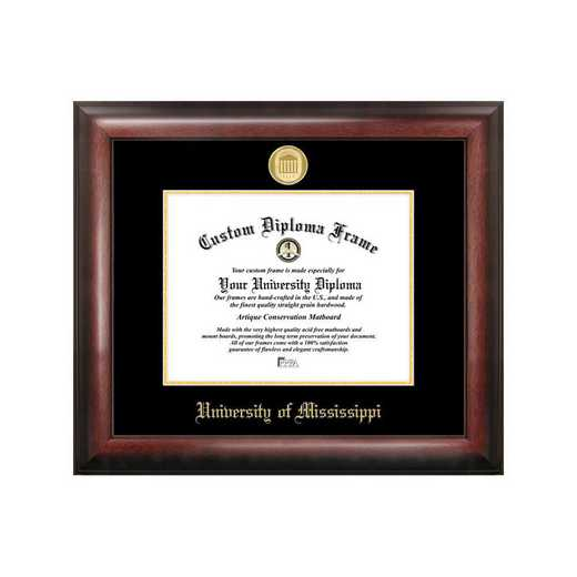 MS999GED-129: University of Mississippi 12w x 9h Gold Embossed Diploma Frame