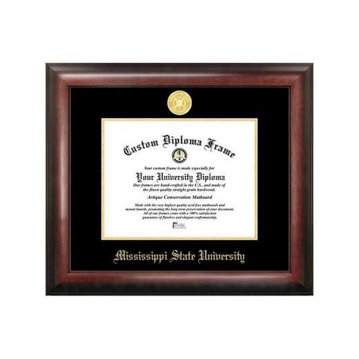 MS997GED-1185: Mississippi State University 11w x 8.5h Gold Embossed Diploma Frame