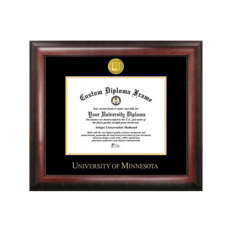 MN999GED-1185: University of Minnesota 11w x 8.5h Gold Embossed Diploma Frame