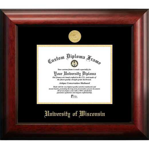 WI995GED-108: University of Wisconsin - Madison 10w x 8h Gold Embossed Diploma Frame