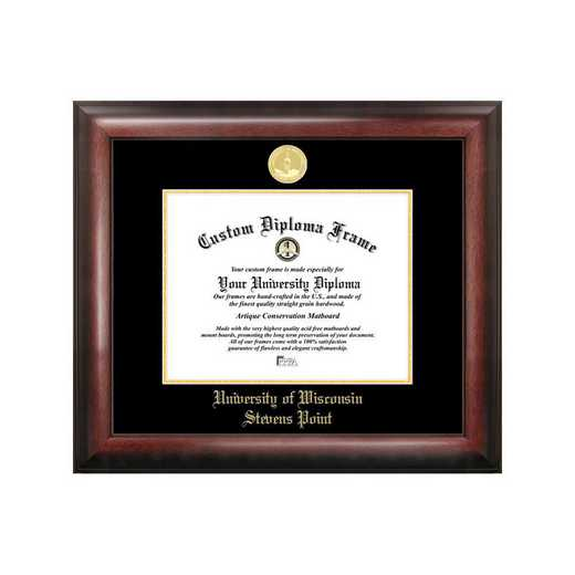 WI993GED-108: University of Wisconsin - Stevens Point 10w x 8h Gold Embossed Diploma Frame