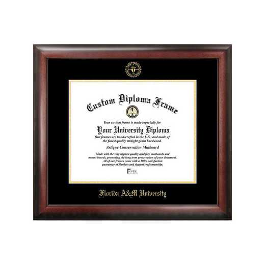FL997GED-1185: Florida A&M University 11w x 8.5h Gold Embossed Diploma Frame