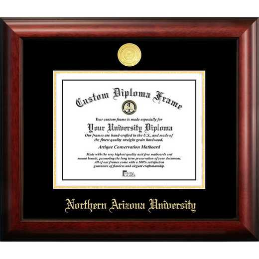 AZ995GED-1185: Northern Arizona University 11w x 8.5h Gold Embossed Diploma Frame