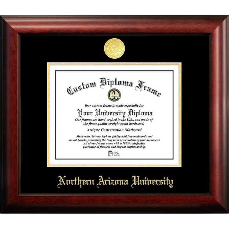 AZ995GED-1185: Northern Arizona University 11w x 8.5h Gold Embossed Diploma Frame