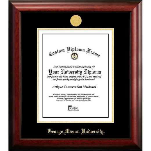 VA997GED-1014: George Mason University 10w x 14h Gold Embossed Diploma Frame