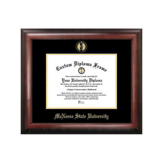 LA996GED-1185: McNeese State University 11w x 8.5h Gold Embossed Diploma Frame