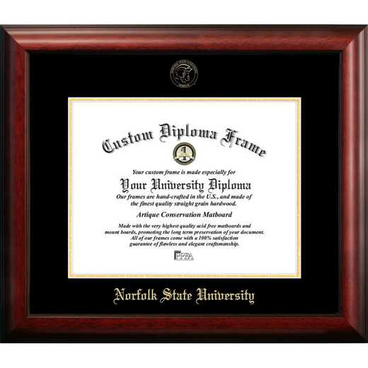 VA992GED-1185: Norfolk State 11w x 8.5h Gold Embossed Diploma Frame
