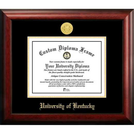 KY998GED-1185: University of Kentucky 11w x 8.5h Gold Embossed Diploma Frame