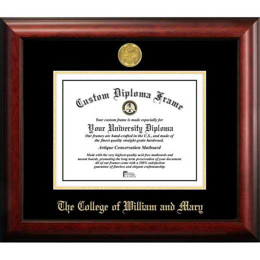 VA991GED-1310: College of William and Mary 13w x 10h Gold Embossed Diploma Frame