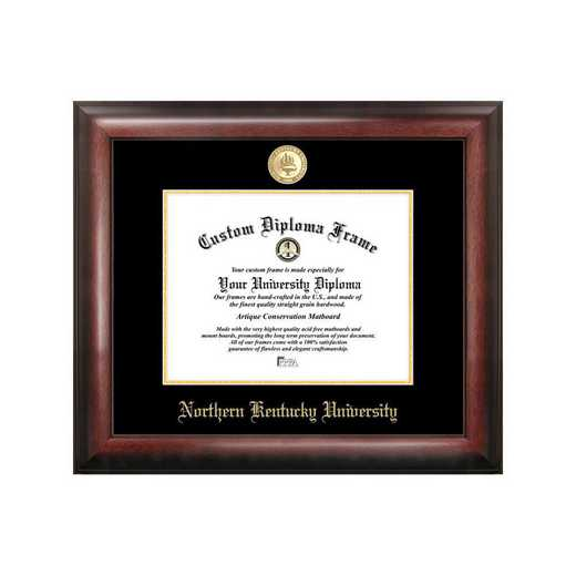KY977GED-1185: Northern Kentucky University 11w x 8.5h Gold Embossed Diploma Frame