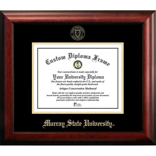 KY984GED-1411: Murray State University 14w x 11h Gold Embossed Diploma Frame