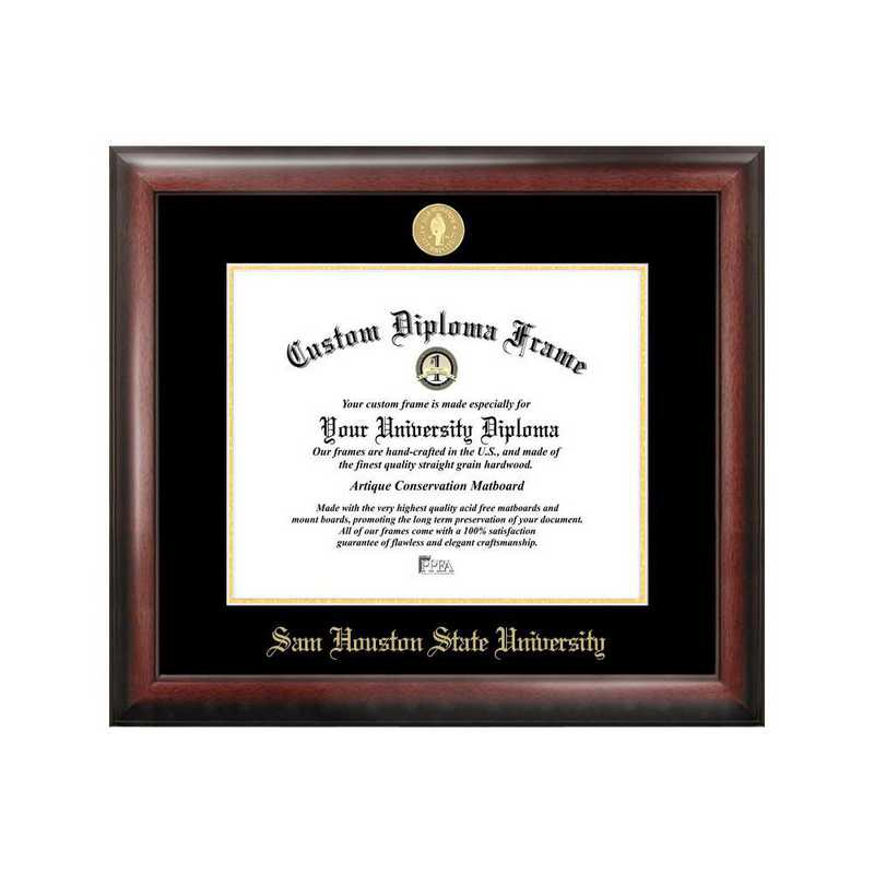TX988GED-1411: Sam Houston State 14w x 11h Gold Embossed Diploma Frame