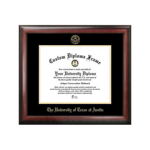 TX959GED-1411: University of Texas, Austin 14w x 11h Gold Embossed Diploma Frame