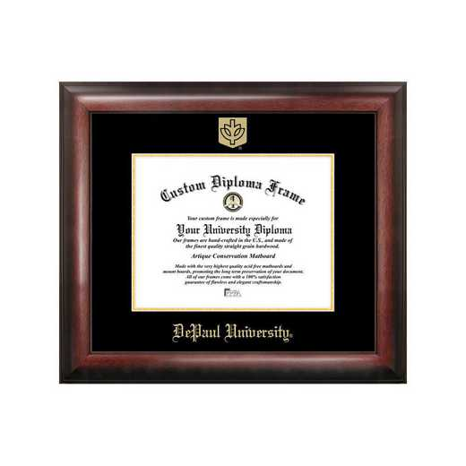 IL974GED-1185: DePaul University 11w x 8.5h Gold Embossed Diploma Frame