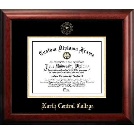 IL984GED-1185: North Central College 11w x 8.5h Gold Embossed Diploma Frame