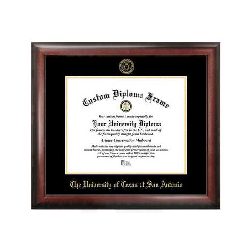 TX948GED-1411: University of Texas, San Antonio 14w x 11h Gold Embossed Diploma Frame