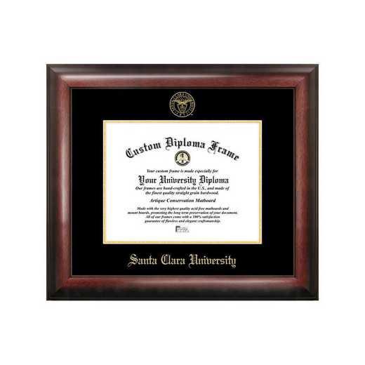 CA930GED-108: Santa Clara University 10w x 8h Gold Embossed Diploma Frame