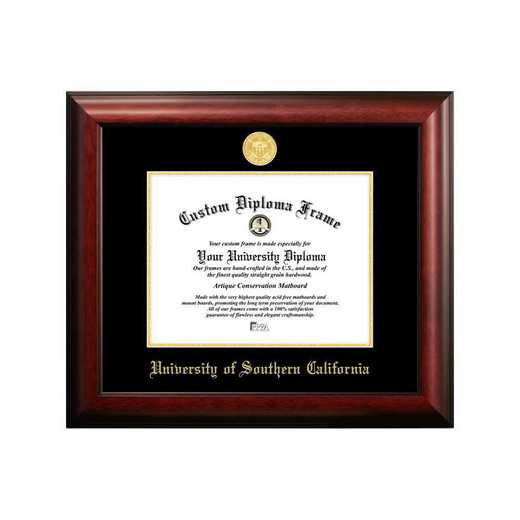 CA940GED-1185: University of Southern California 11w x 8.5h Gold Embossed Diploma Frame