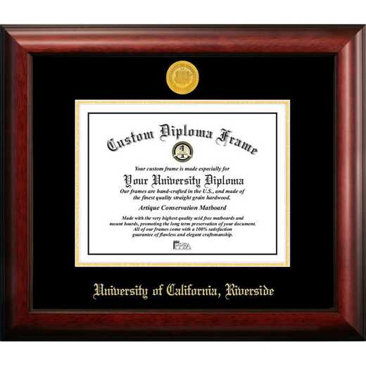 CA941GED-1185: UC Riverside 11w x 8.5h Gold Embossed Diploma Frame