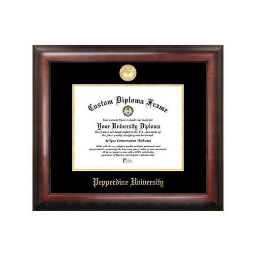 CA944GED-1185: Pepperdine University 11w x 8.5h Gold Embossed Diploma Frame