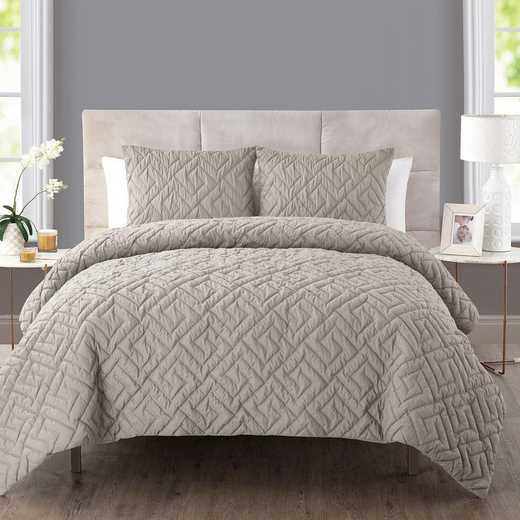 VCNY Home Artemis Embossed Down Alt Comforter Set Taupe
