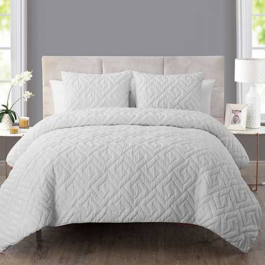 VCNY Home Artemis Embossed Down Alt Comforter Set White