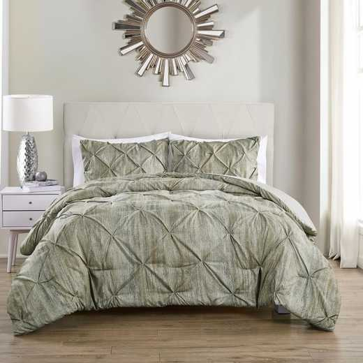 VCNY Home Distressed Karla Duvet Set Beige/White