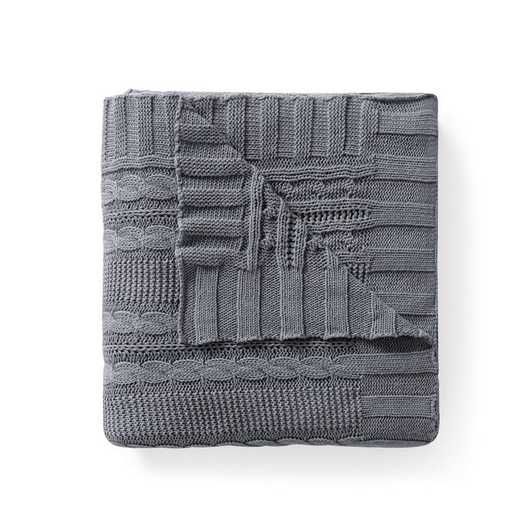 "DUI-THR-5070-BB-GREY: VCNY Dublin Cable Knit Throw Grey, 50"" x 70"""