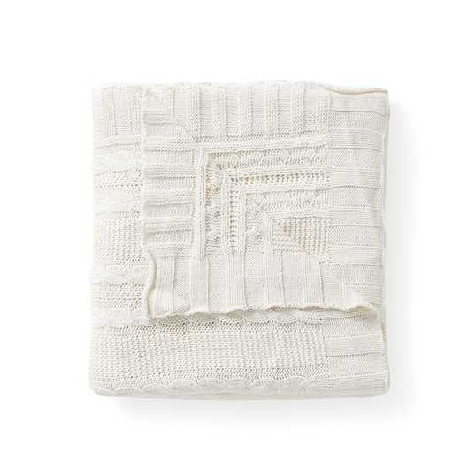 "DUI-THR-5070-BB-IVORY: VCNY Dublin Cable Knit Throw Ivory, 50"" x 70"""