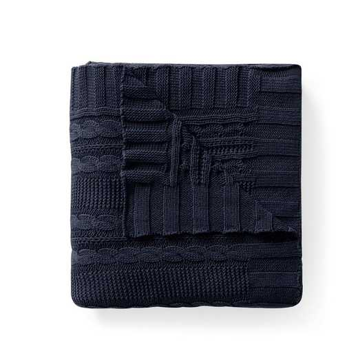 "DUI-THR-5070-BB-NAVY: VCNY Dublin Cable Knit Throw Navy, 50"" x 70"""