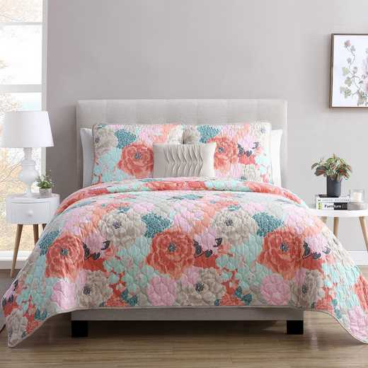 VCNY Home Jodi Floral Quilt Set Multicolored