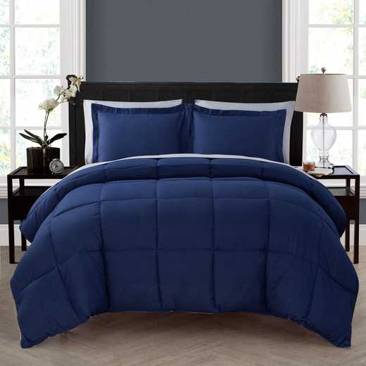 VCNY Home Lincoln Down Down Alternative Bed in a Bag Navy