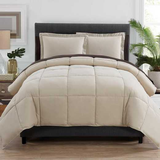 VCNY Home Lincoln Down Down Alternative Bed in a Bag Taupe