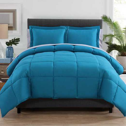 VCNY Home Lincoln Down Down Alternative Bed in a Bag Teal