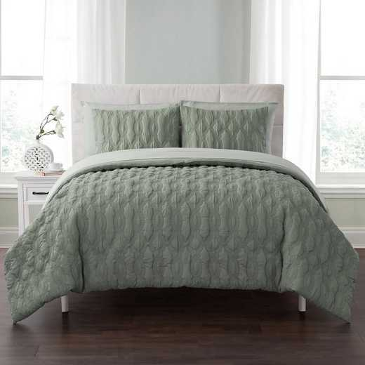 VCNY Home Linx Embossed Bed In A Bag Comforter Sage
