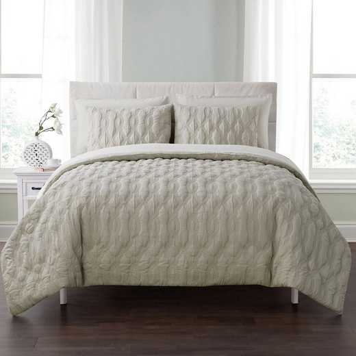 VCNY Home Linx Embossed Bed In A Bag Comforter Taupe