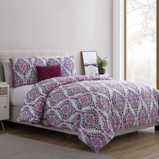VCNY Home Lyndon Comforter Set -Purple