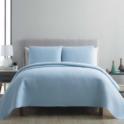 VCNY Home Waffle Pinsonic Quilt Set-Blue